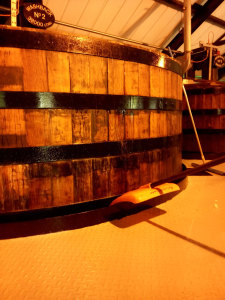 Auchentoshan washback filled with water for conditioning during the silent season