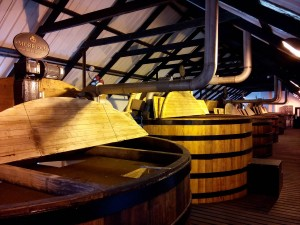 Wooden washbacks at Bowmore