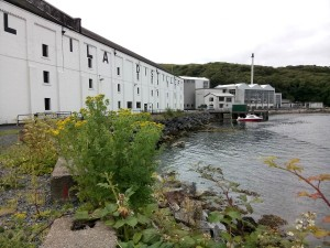 Caol Ila distillery - right next to the Sound of Islay