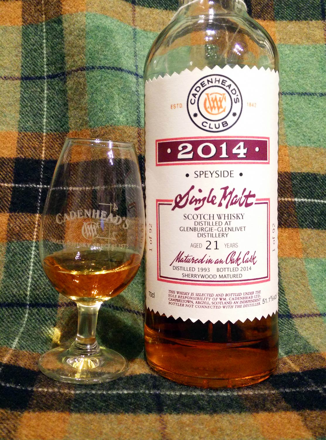 Glenburgie 1993 21y Cadenhead Club 2014