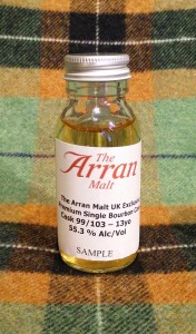 Arran 13yo UK exclusive single cask 99/103