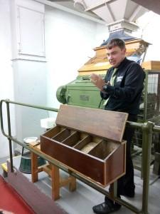 Neil explains the Bobby mill at Ardbeg
