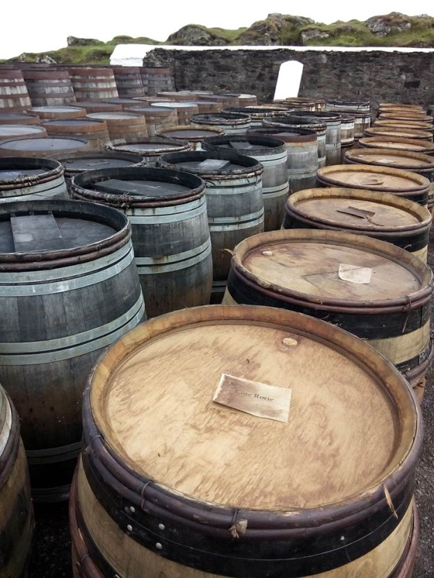 Many different kinds of casks in use at Ardbeg