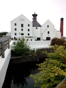 Freshly painted Lagavulin Distillery