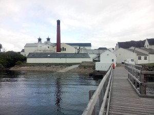View of Lagavulin Distillery from the pier