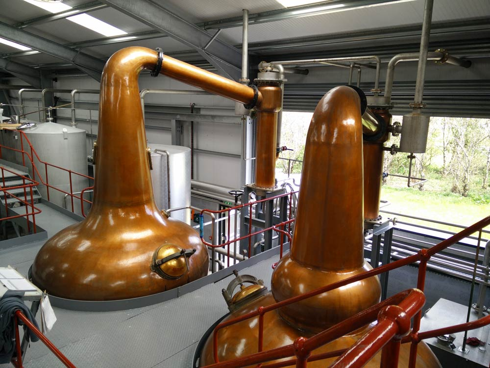 Wolfburn: Stills (wash still on the left, spirit still on the right)