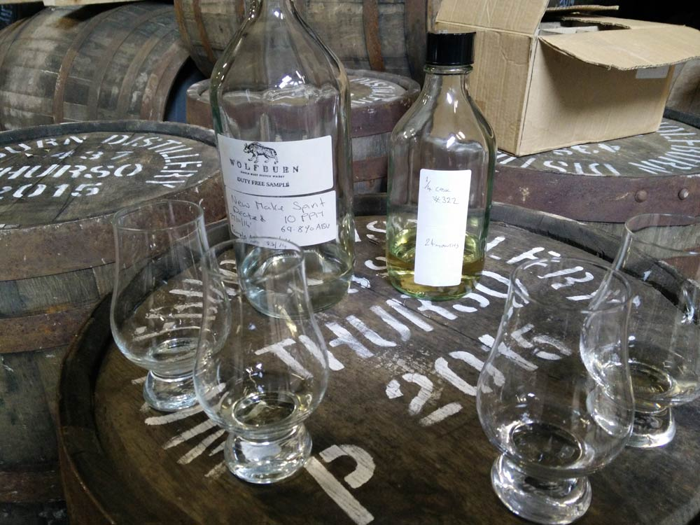 Wolfburn: The two whiskies we got to taste