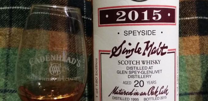 Glen Spey 1995 20 yo by Cadenhead's - 2015 Club bottling