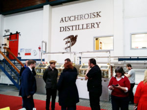 Whisky bloggers exploring the distillery