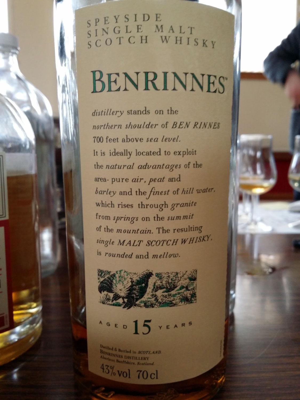 Benrinnes 15 years Flora & Fauna