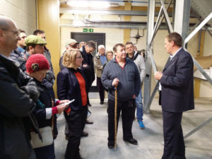 Trevor Buckley showing the group around