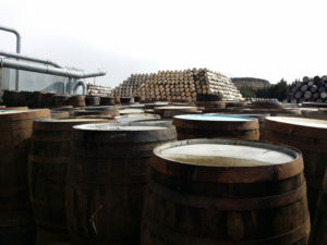 Casks at the Speyside Cooperage
