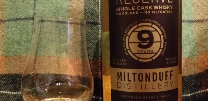 Review: Miltonduff 2006 9 yo by Single Cask Collection