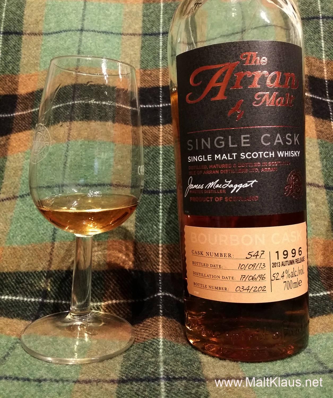 Arran 1996-2013 17 yo Bourbon cask #547