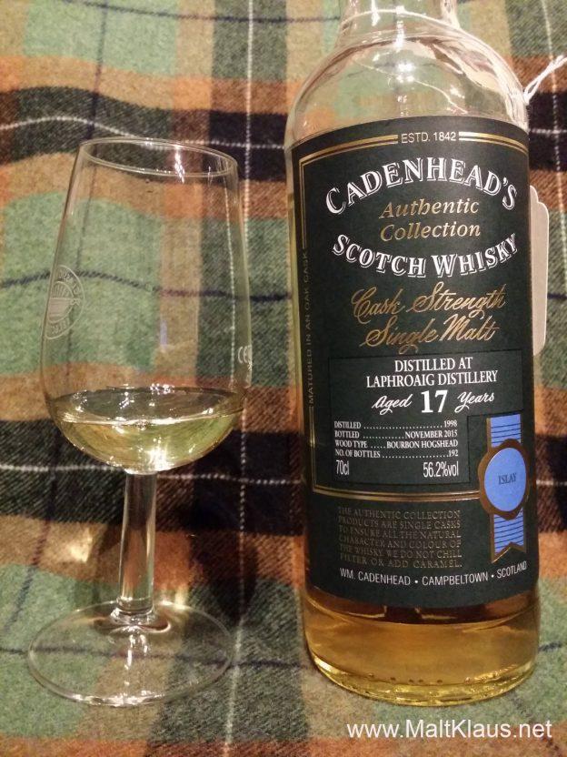 24 drams till Christmas 2016 #21: Laphroaig 1998 17 yo by Cadenhead's