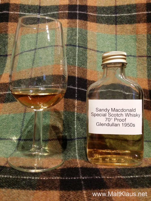 Sandy Macdonald Special Scotch Whisky Blend 1950s - Glendullan