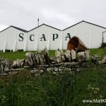 Scapa distillery on approach via the coastal path