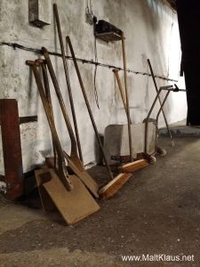 Tools of the trade at the floor maltings