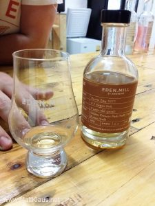 The first bottling of 2-year-old spirit at Eden Mill