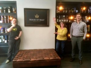 At the House of Malt in Carlisle with Ben (right) (Picture credit: House of Malt)