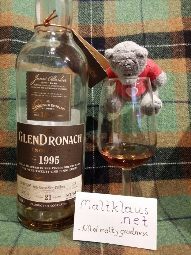Glendronach 1995 21 years cask 1523 for Shiuh Heng