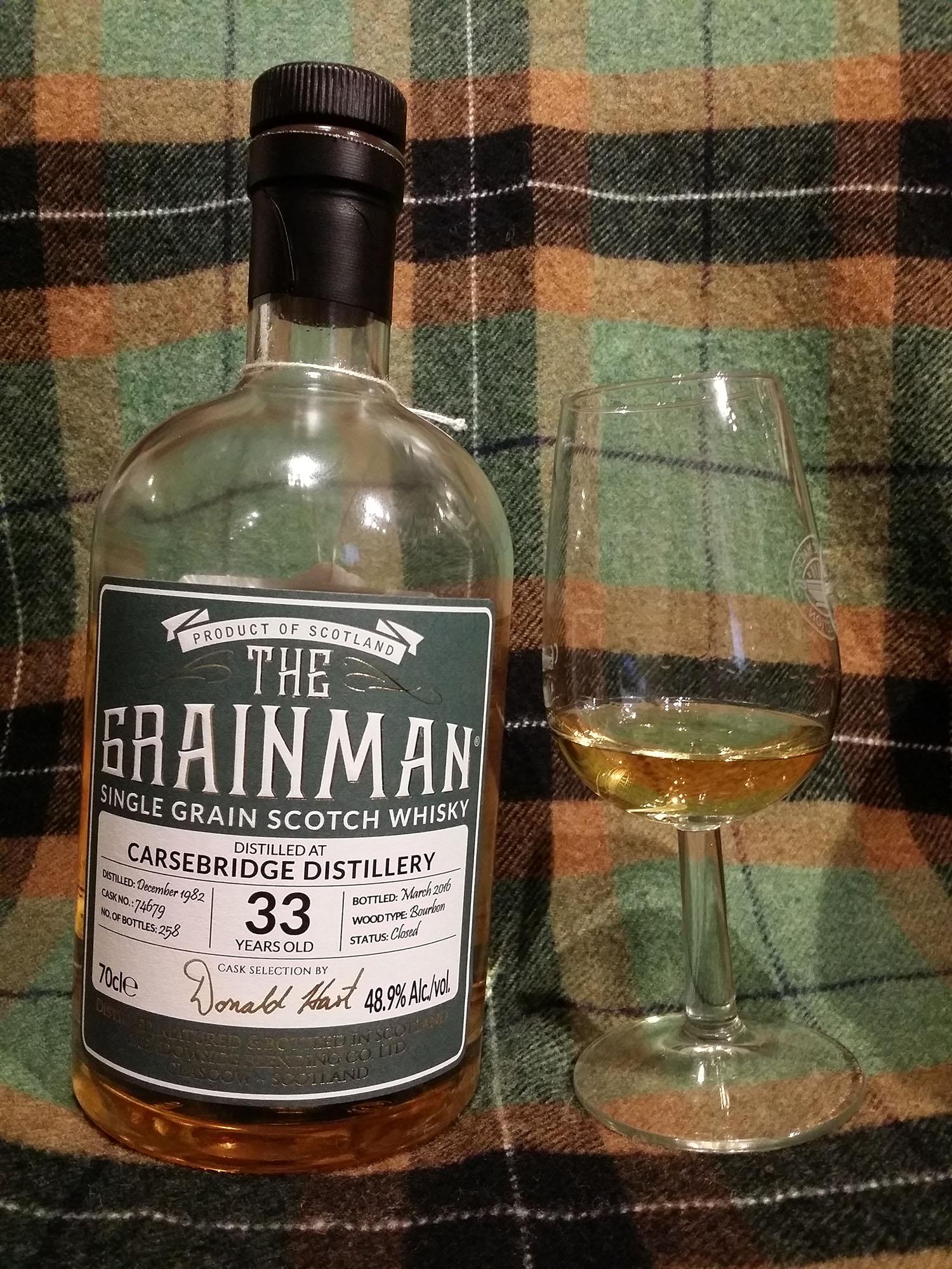 Carsebridge 1982 33 years Single Grain Whisky by The Grainman