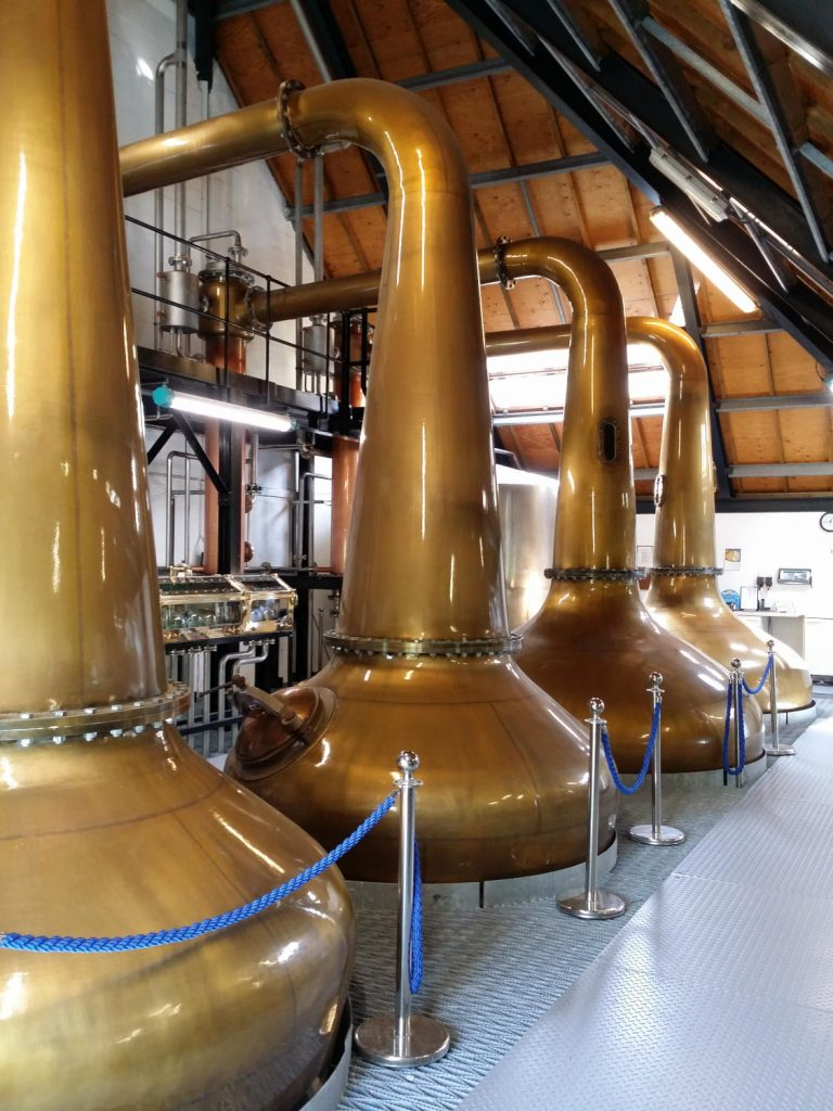The new stills at the Isle of Arran distillery