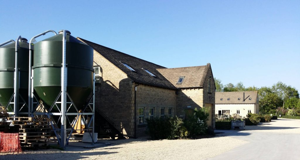 Cotswolds distillery, courtyard