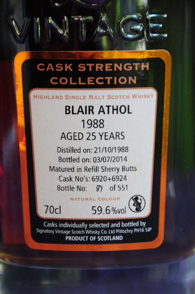 Blair Althol 1988 25yo