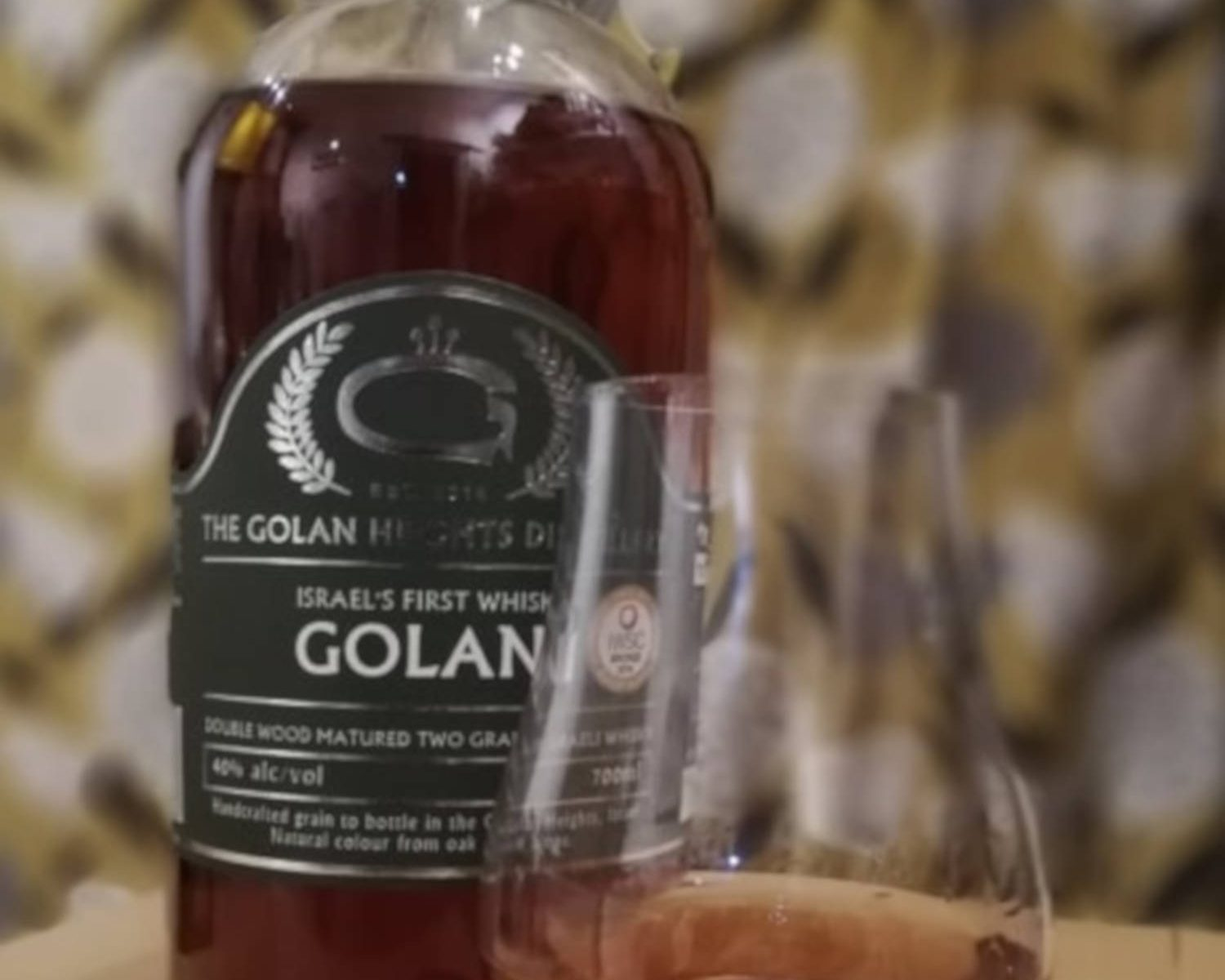 Golani double wood matured two grain Israeli whisky