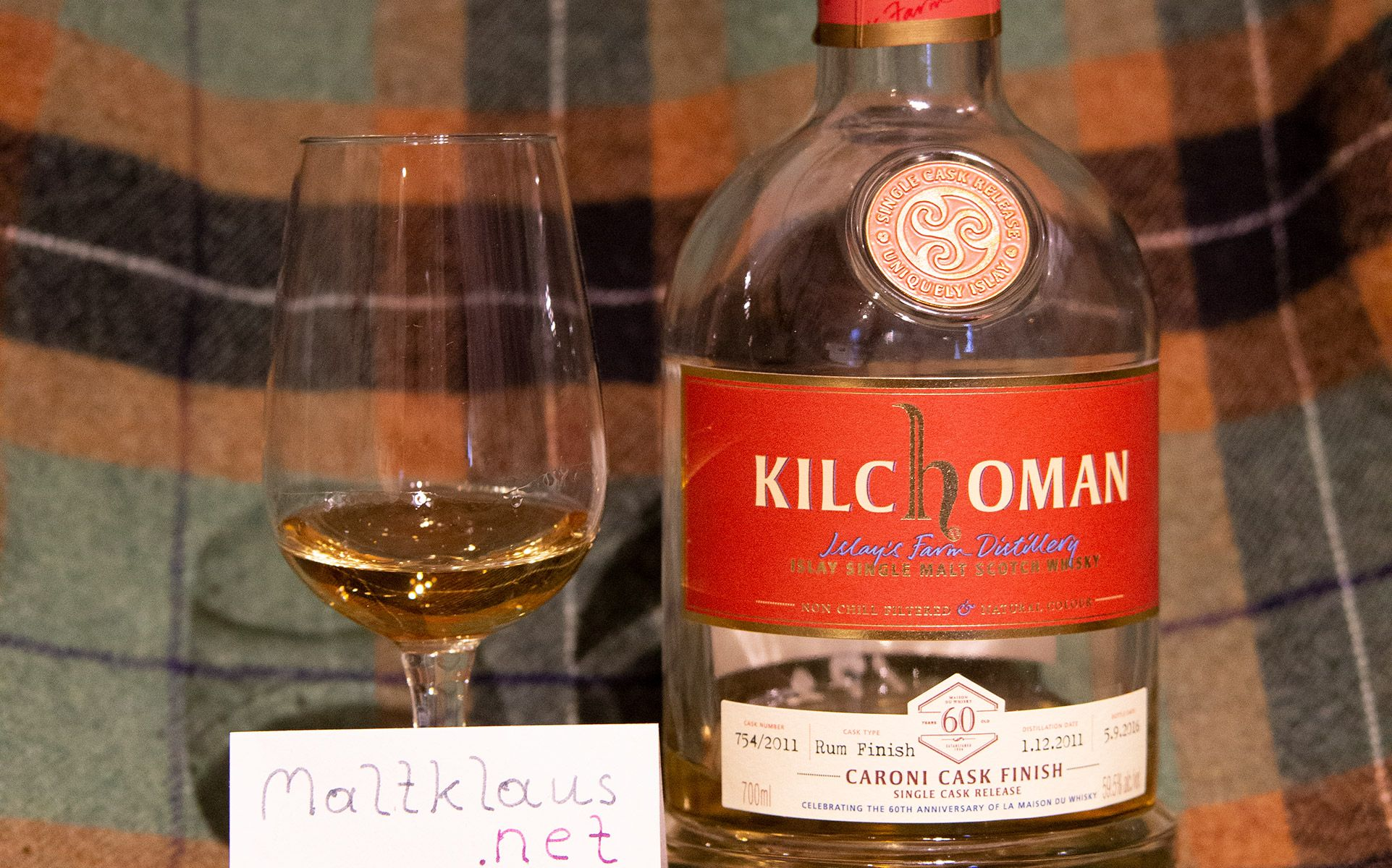 Kilchoman 2011-2016 Caroni Cask Finish for LMDW