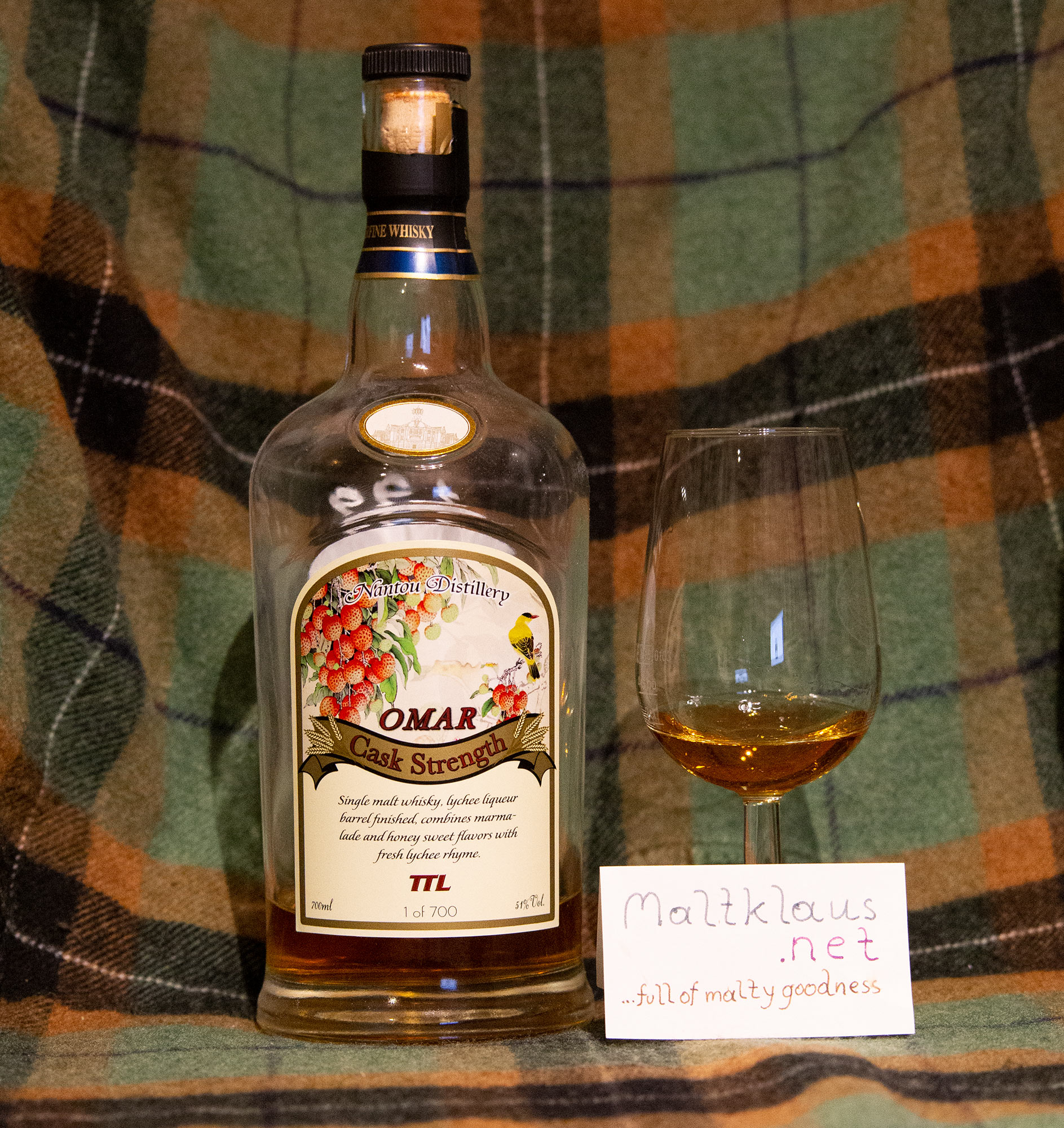 Nantou Omar cask strength single malt - lychee liqueur barrel finish
